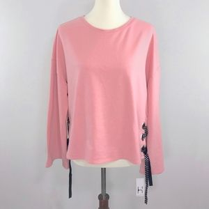 Hannah Rose Tan Wide Sleeve Sweatshirt Top